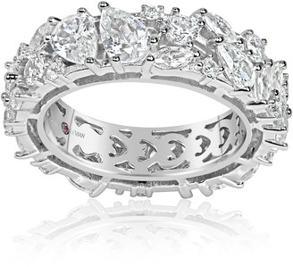 LeVian Suzy Sterling Silver CZ Eternity Band