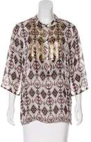 Figue Printed Silk Tunic
