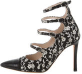 Altuzarra Embroidered Multi-Strap Pumps
