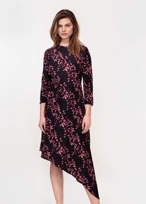 Hide The Label - Pink Leaf Asymetric Dress - 10