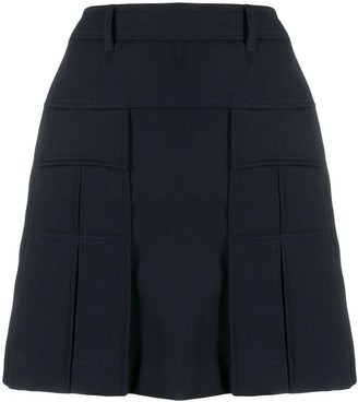 Prada high waist pleated skirt