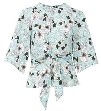 Dorothy Perkins Womens *Izabel London Floral Print Tie Waist Blouse