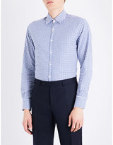 Canali Checked regular-fit cotton shirt