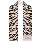 Kenzo KidsGirls Pink Tiger Stripe Knitted Scarf