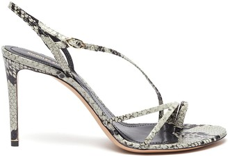Nicholas Kirkwood 'Elements' snake embossed leather sandals