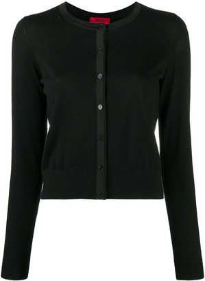 HUGO BOSS Button-Up Wool Cardigan
