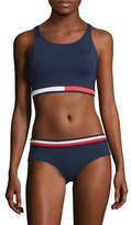 Tommy Hilfiger Flag Crop Bikini Top