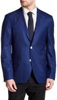 Ike Behar Blue Notch Collar Two Button Wool Blazer