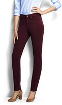 Lands' End Women's Petite Mid Rise Slim Jeans - Garment Dye-Merlot