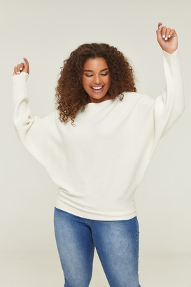 Ardene Plus Size Ribbed Dolman Sweater
