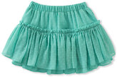 Kate Spade Tiered Clipped Dot Skirt, Turquoise, Size 7-14