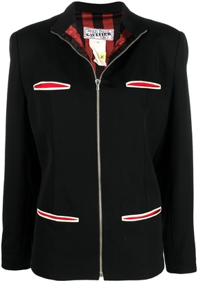 Jean Paul Gaultier Pre Owned High-Neck Zip-Up Jacket