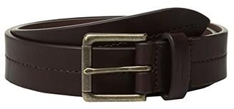 Shinola Detroit 1 1/4 Center Stitch Roller Belt Bridle AG (Deep Brown) Men's Belts