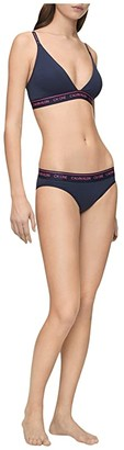 Calvin Klein Underwear One Cotton Average + Full Figure Bikini (Black) Women's Underwear