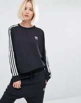 adidas Three Stripe Chiffon Sweatshirt