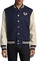 True Religion Men's Collegiate Varsity Jacket