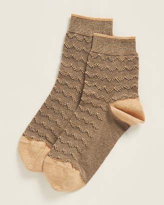 Missoni Gold Metallic Solid Line Socks