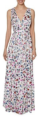 Laundry by Shelli Segal Floral Print Pleated Gown