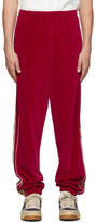 Gucci Red GG Stripe Lounge Pants