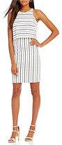 Antonio Melani Roman Stripe Twill Dress