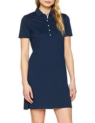 Brax Women's Gweneth Dresses Piqué Casual Cotton Baumwollkleid Polokragen Uni deep Blue 23, (Size : 42)