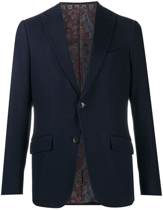 Etro Fitted Single Breasted Blazer