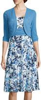 Perceptions Floral Print Bolero Jacket Dress