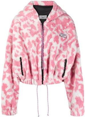 Ashley Williams Furry Animal-Print Jacket
