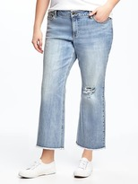 Old Navy Plus-Size Cropped Kick-Flare Jeans