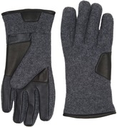 UGG Fabric Smart Gloves w/ Leather Trim