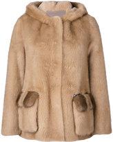 Blancha - open front coat - women - Cotton/Mink Fur/Viscose/Merino - 42