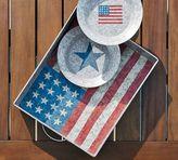 Pottery Barn Galvanized Americana Tray