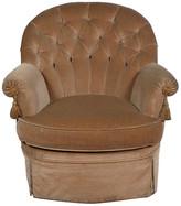 One Kings Lane Vintage 1930s French Ladies Boudoir Chair - Blink Home Vintique - tan/grey