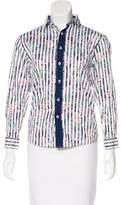 Isaac Mizrahi Striped Button-Up Top