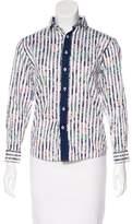 Isaac Mizrahi Striped Button-Up Top