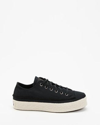 Converse Women's Black Low-Tops - Chuck Taylor All Star Espadrille Low Tops - Women's - Size 6 at The Iconic