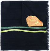 Paul Smith embroidered flower scarf - women - Wool - One Size