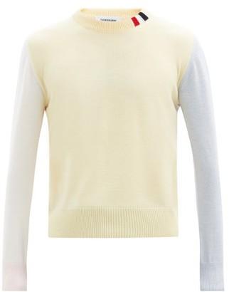 Thom Browne Colour-block Merino-wool Sweater - Multi