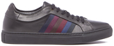 Paul Smith Men's Ivo Leather Court Trainers Black Classic Calf/Stripe Webbing
