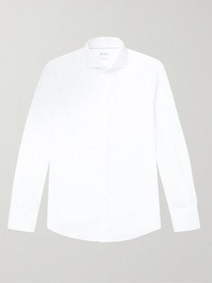 Brunello Cucinelli Slim-Fit Cutaway-Collar Cotton Shirt