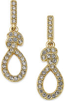 Eliot Danori Gold-Tone Crystal Pavé Knot Drop Earrings