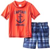 "Carter's Baby Boy Captain Adorable"" Anchor Rashguard & Swim Trunks Set"