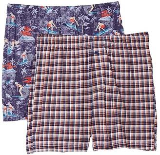 Tommy Bahama 2-Pack Knit Boxer Set (Fall Mini Plaid/Surf Time) Men's Underwear