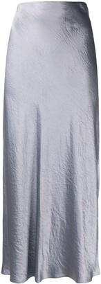 Vince Japanese satin slit skirt