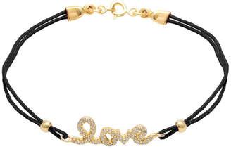 GABIRIELLE JEWELRY Gold Over Silver Cz Adjustable Bracelet