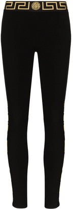 Versace Grecca border baroque stripe leggings