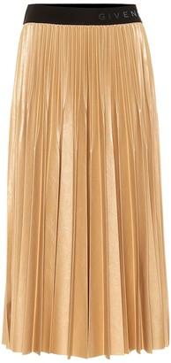 Givenchy Pleated lame midi skirt