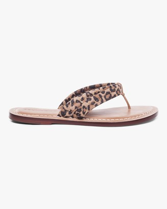 Bernardo Cheetah Print Miami Two-Tone Sandal