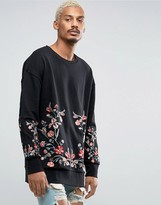Jaded London Floral Sweatshirt