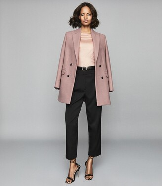 Reiss Marilyn - Straight Neck Top in Pale Pink